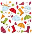 Rainy Autumn Set vector image