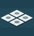 set of isometric compass roses vector image