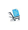 shop document logo icon design vector image
