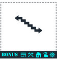 stairs icon flat vector image vector image