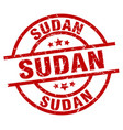 sudan red round grunge stamp vector image vector image