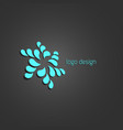 swirl abstract logo concept turquoise color vector image