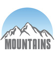 Tourism travel logo template abstract Mountains vector image vector image