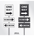traffic sign one way vector image vector image