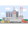 truck loading near factory vector image vector image