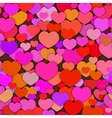 valentine seamless fun hearts pattern different vector image vector image