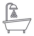 bathtub shower line icon sign vector image