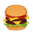 double meat hamburger vector image