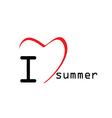 love summer icon vector image