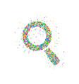 magnify icon circles vector image