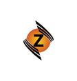 technology letter z vector image