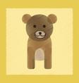 flat shading style icon cartoon bear vector image