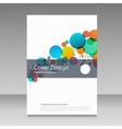 Abstract color circles Cover design template vector image vector image