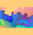 abstract colorful fluid composition background vector image