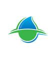 abstract waterdrop eco logo image vector image vector image