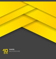 abstract yellow paper cut style on gray vector image