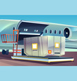 airplane freight loading delivery logistics vector image
