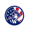 american patriot usa flag icon vector image vector image