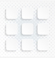 blank white rounded square website buttons set vector image vector image