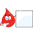 Blood drop cartoon