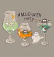 bloody halloween cocktails vector image