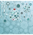 Blue background with christmas balls EPS 8 vector image