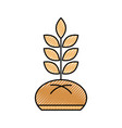 bread and wheat bakery pastry product food fresh vector image
