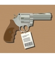 buy gun pistols with price tag isolated wood vector image vector image