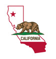 california ca flag in state map vector image