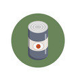 camping tin can icon in green circle flat style vector image