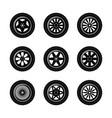 car wheels set vector image vector image