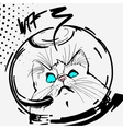 cat space graphic line cartoon vector image vector image