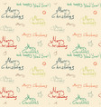 color christmas calligraphic seamless pattern on vector image vector image