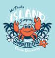 crabs island kids ocean discovery vector image vector image