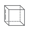 cube geometry perspective isometric line icon vector image