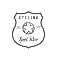 cycling sport wear logotype vector image vector image