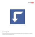 down arrow icon - blue photo frame vector image