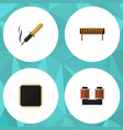 flat icon technology set of cpu coil copper vector image vector image