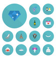 flat icons posy building wedding gown and other vector image vector image