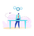 flat manager financial planning and budgets vector image vector image