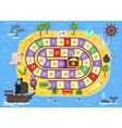 flat style of kids pirate board game vector image vector image