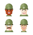 flat world war two soldiers graphic icon se vector image