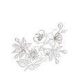 flower line vector image vector image