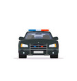 front view of police car vector image vector image