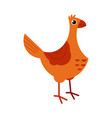 full length of brown hen - side view of standing vector image vector image