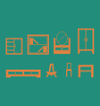 Furniture design set vector image