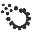 gear disruption icon vector image vector image