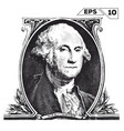 george washington on one dollar bill obverse vector image
