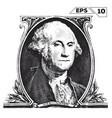 george washington on one dollar bill obverse vector image