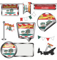 glossy icons with flag of province prince edward vector image vector image